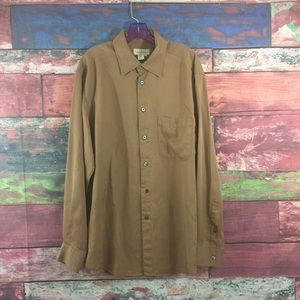 Zegna Shirt Light Brown Size L Italy L/S